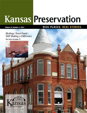 Kansas Preservation, Volume 35, Number 4, 2013