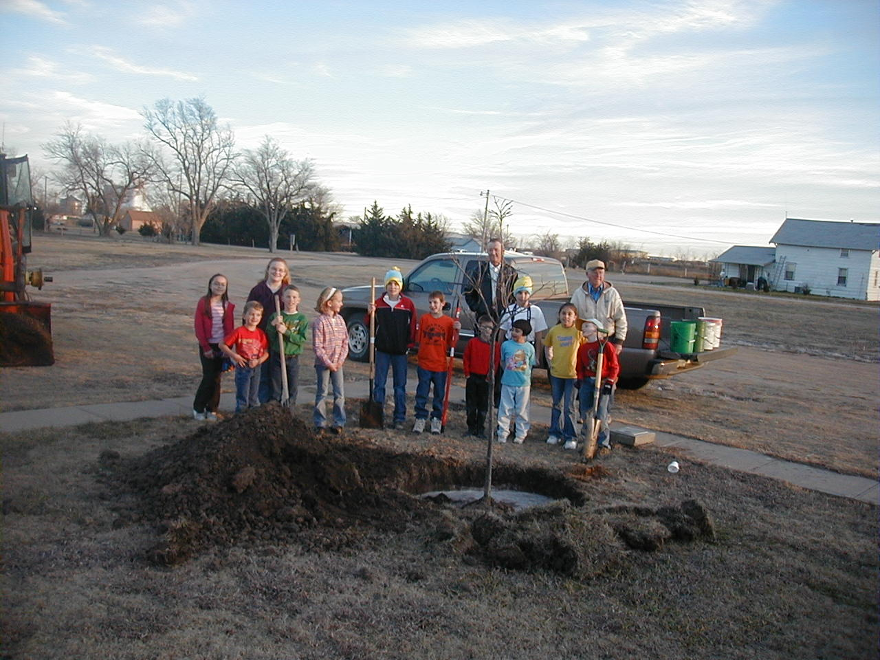 Gove County tree planting