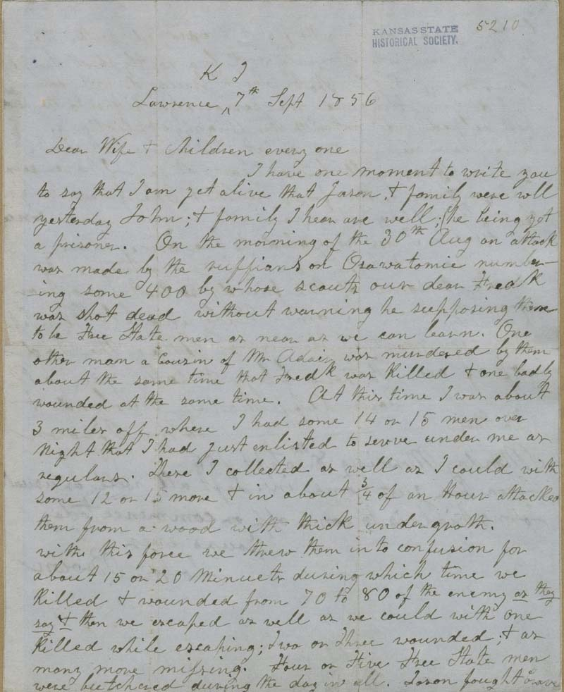 Letter to Mary Brown