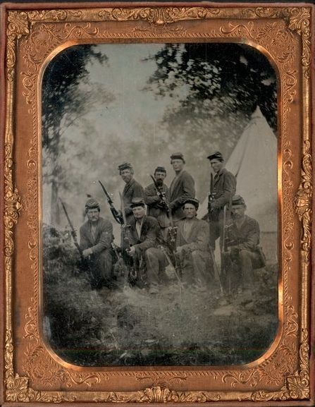8th Kansas Volunteer Infantry, Company E. soldiers, 1862