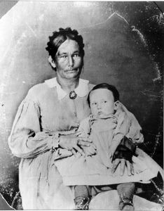 Annie Grinter and son, Cunningham