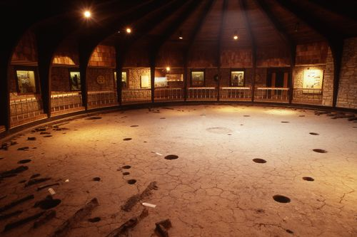 Floor of Pawnee Earth Lodge