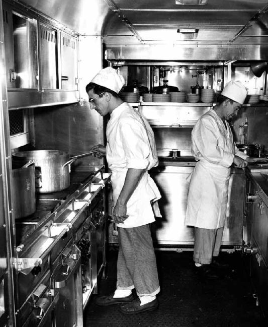 Santa Fe railroad kitchen