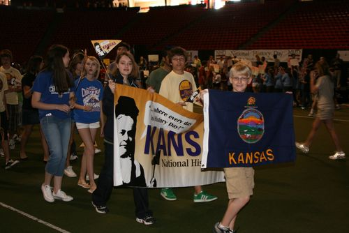 Kansas delegation in the opening parade