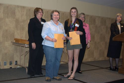 Kristen Ralphs and teacher - Benita Holder, 2nd place, Jr. individual exhibit