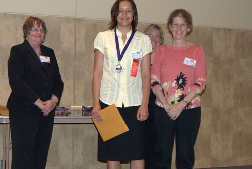 Marilyn Morton and teacher Chris Terrill, 2nd place, Jr. website