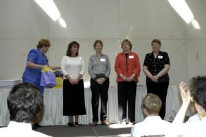 Susan Sittenaur, Kansas History Day Teacher of the Year (2nd from left)