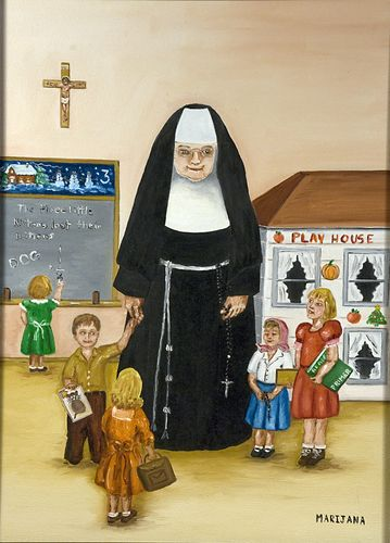 Sister Praxeda and the kindergarteners