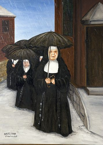 The Nuns walking to church