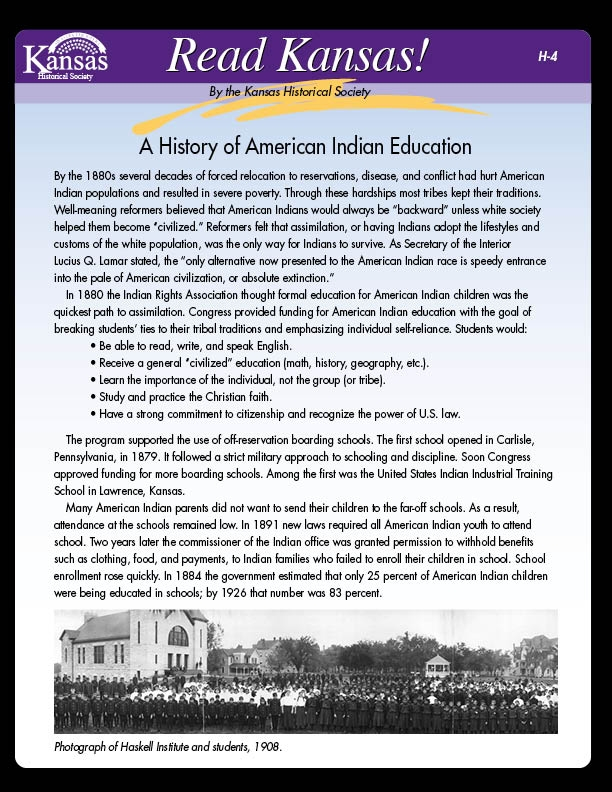 H-4 A History of American Indian Education