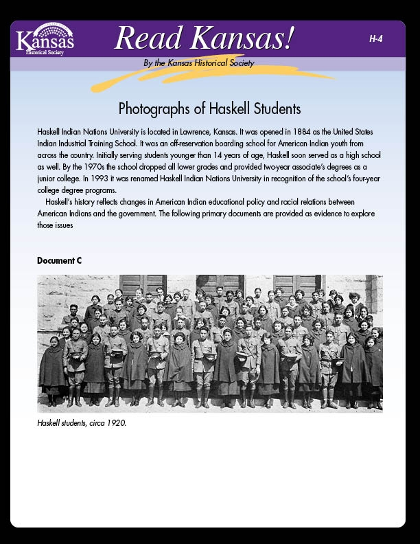 H-4 Photographs of Haskell Students