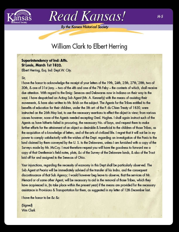 The Work of William Clark:  Superintendent of Indian Affairs