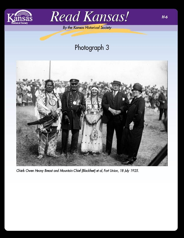 Photograph 3: Chiefs at Ft. Union and Photograph 4: Peter Richard