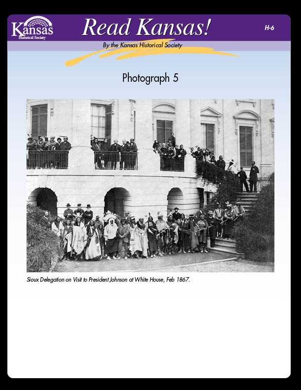Photograph 5: Sioux Delegation and Photograph 6: Commissioner with Sacs and Fox