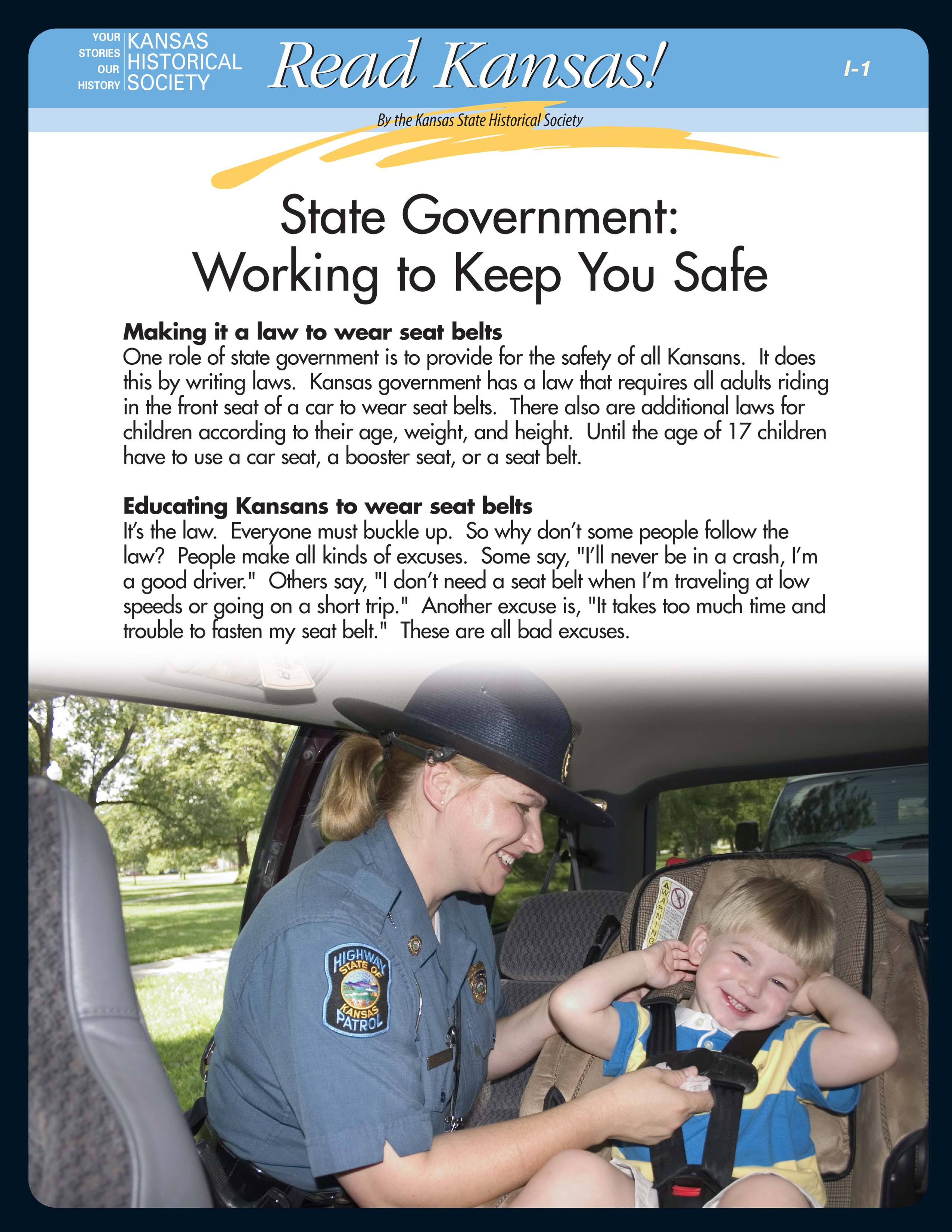 Read Kansas!: I-01 Getting to Know Government