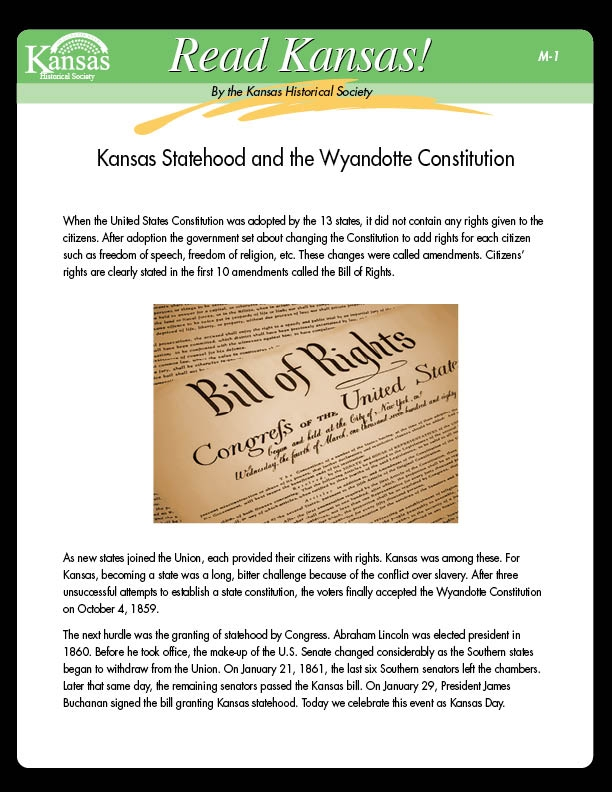 Read Kansas! Middle School - M-01 Know Your Government - Kansas ...