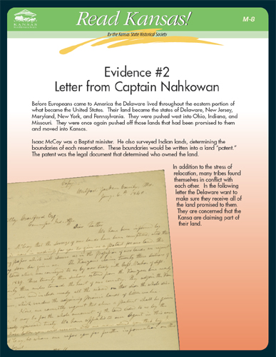 M-8 Evidence #2  Letter from Captain Nahkowan