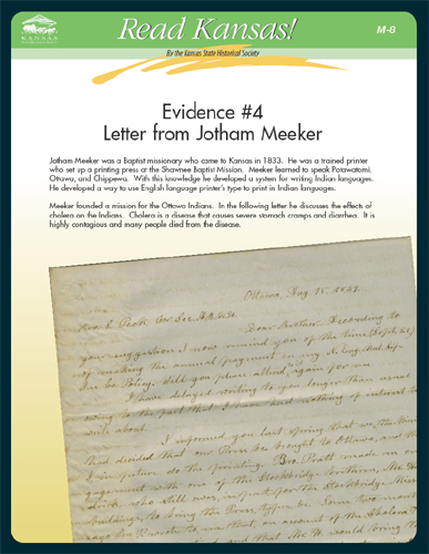 M-8 Evidence #4 Letter from Jotham Meeker