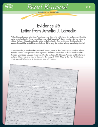 M-8 Evidence #5 Letter from Amelia J. Labedia