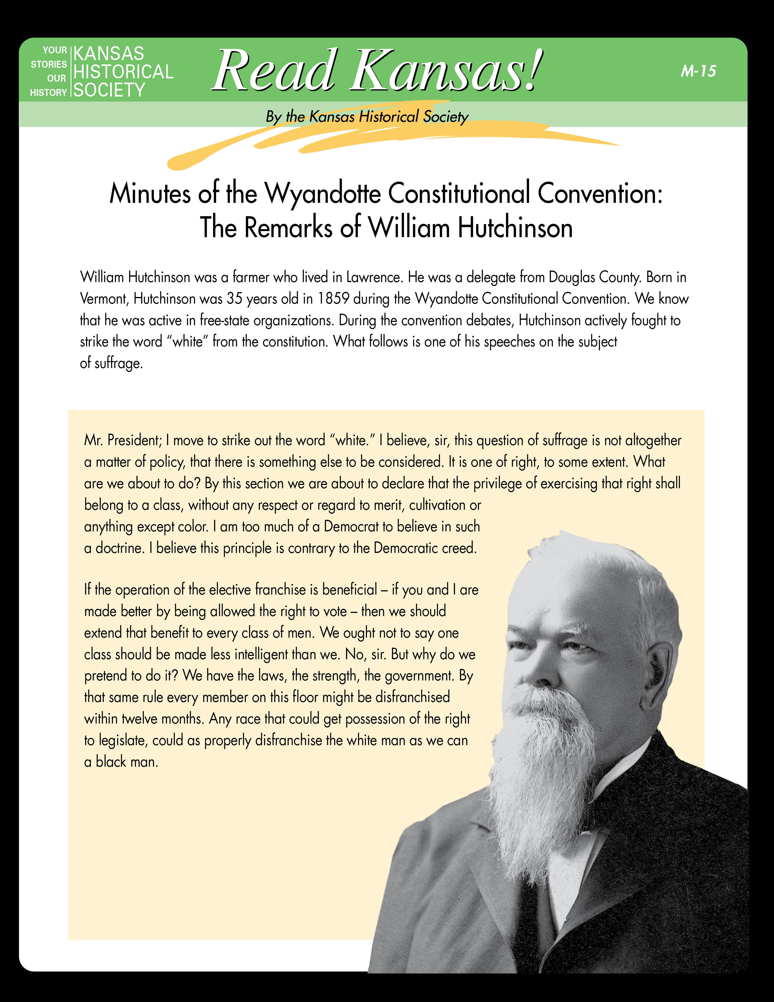 M-15 Wyandotte Constitutional Convention