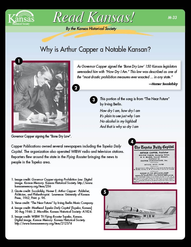 Why is Arthur Capper a Notable Kansan?