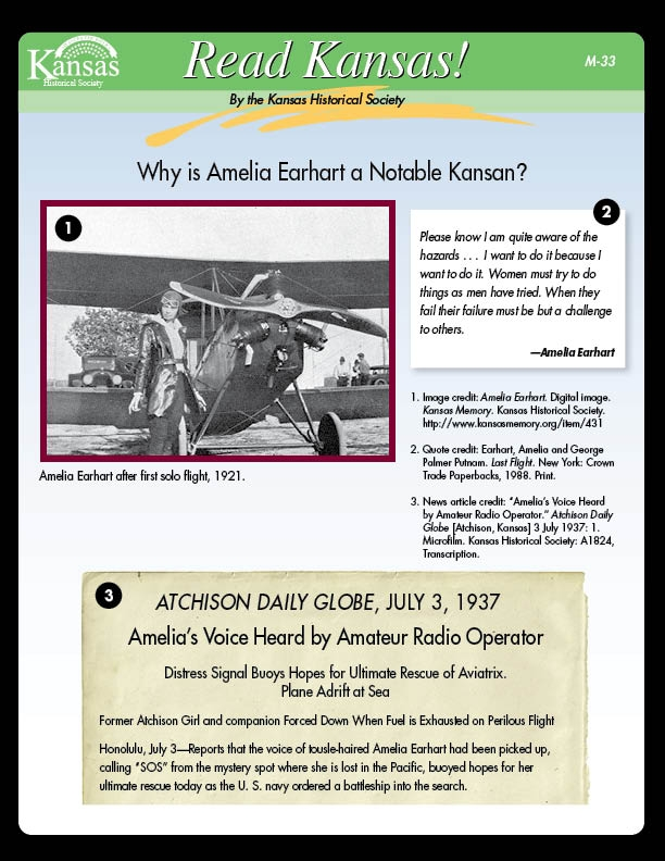 Why is Amelia Earhart a Notable Kansan?