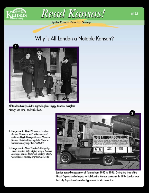 Why is Alf Landon a Notable Kansan?