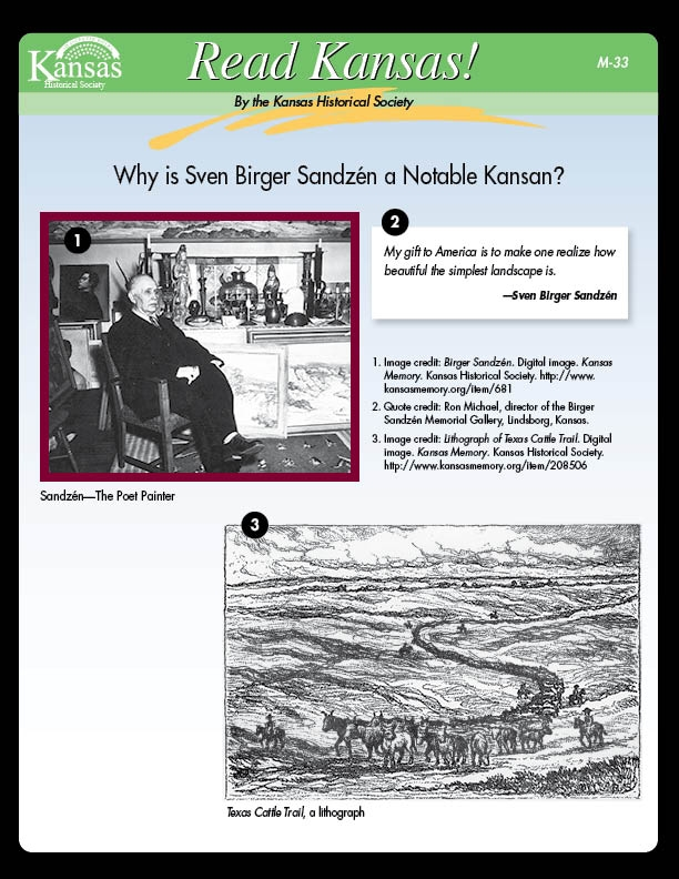 Why is Seven Birger Sandz?n a Notable Kansan?