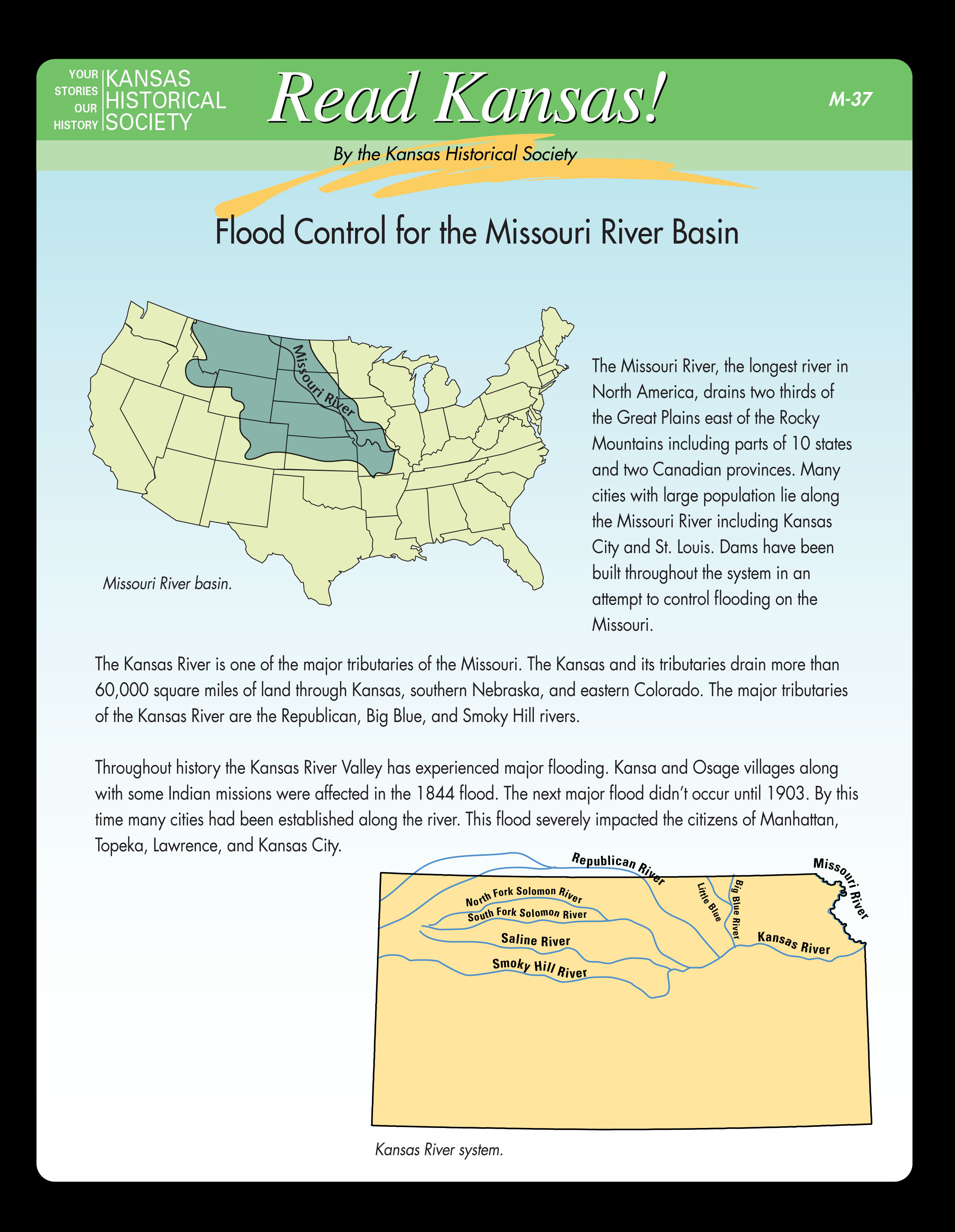 M-37 Flood Control for the Missouri River Basin