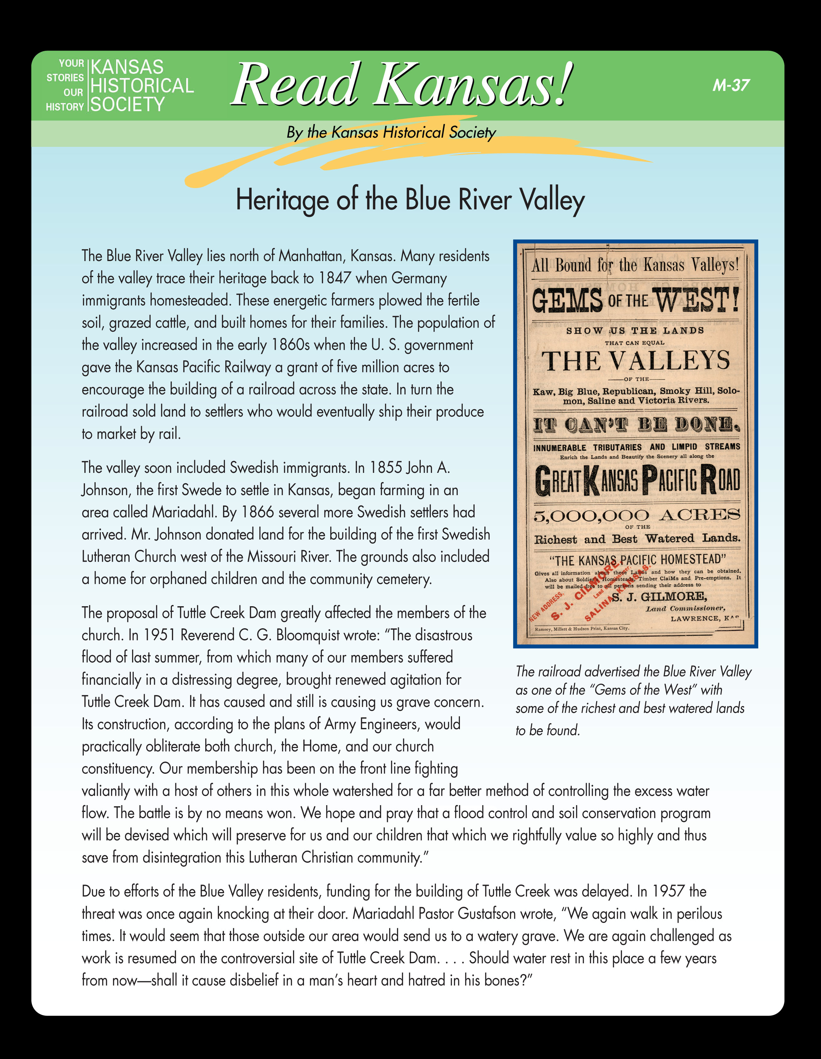 M-37 Heritage of the Blue River Valley
