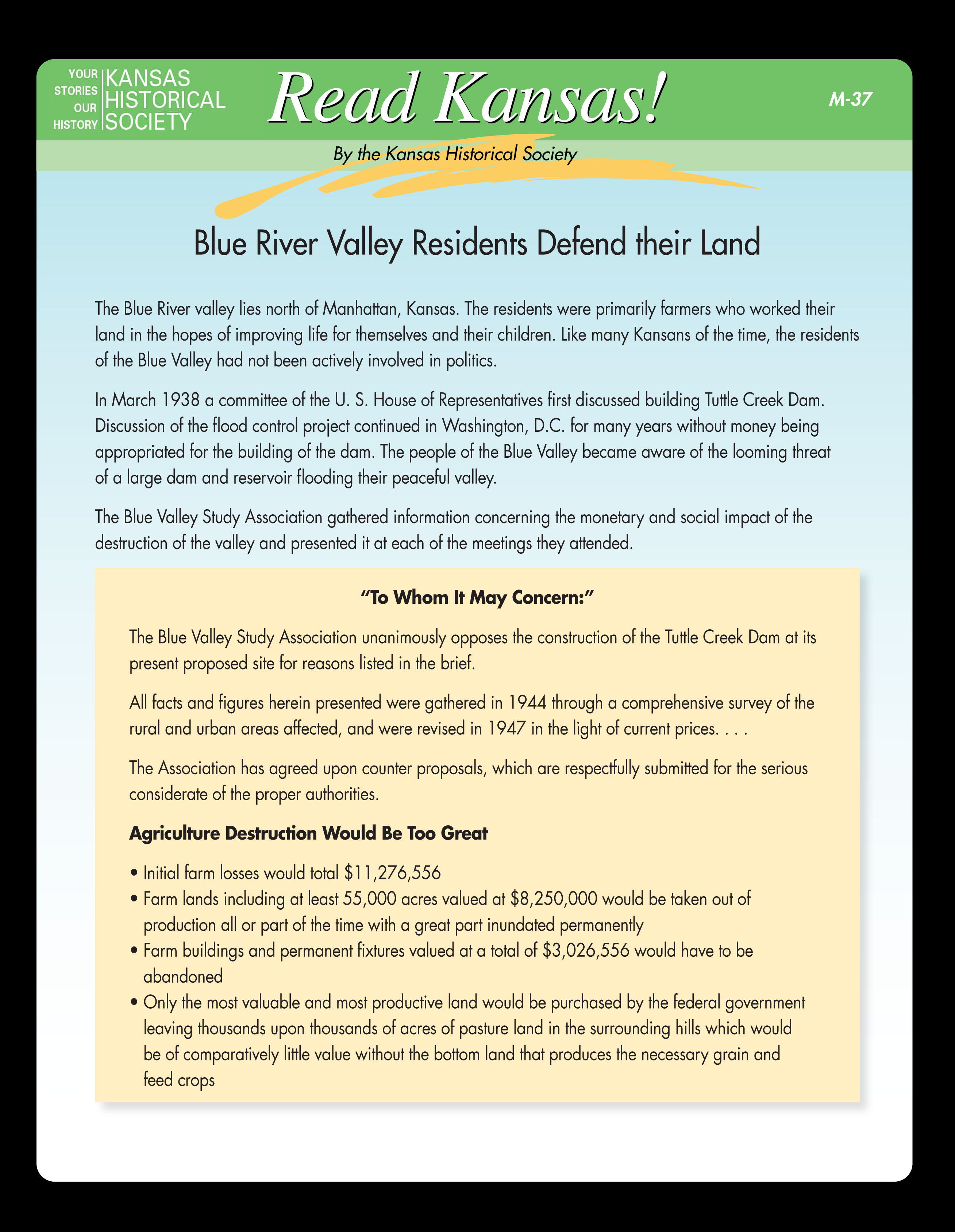 Blue River Valley Residents Defend their Land