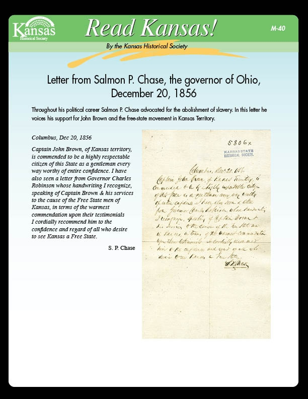 Letter from Salmon P. Chase