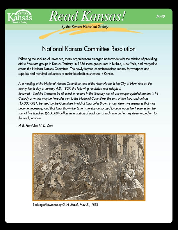 National Kansas Committee Resolution
