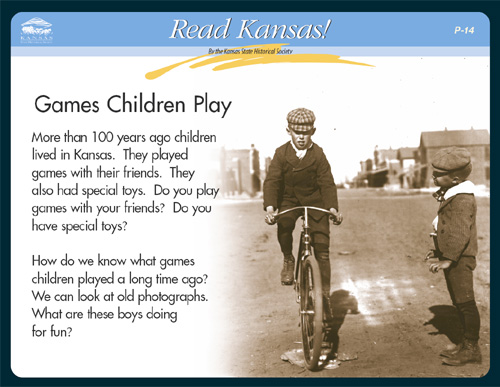 P - 14 Games Children Play:  Then and Now