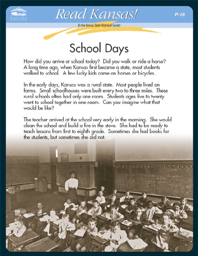 P -18 Understanding Clues from the Past:  School Days