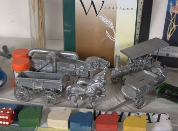 Models of farm equipment
