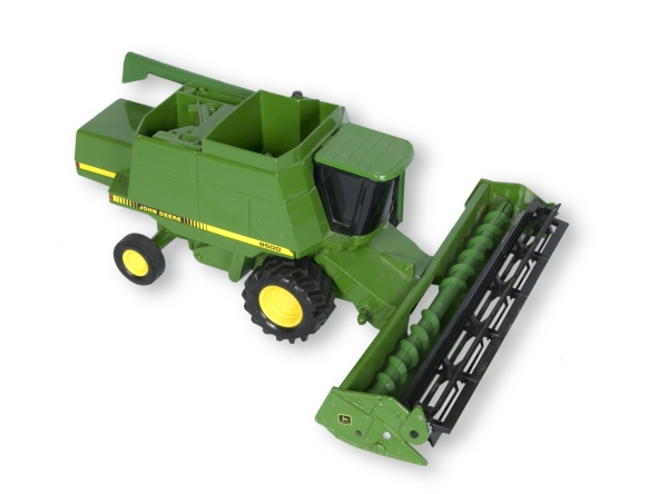 Model of John Deere combine from the Wheatland trunk.